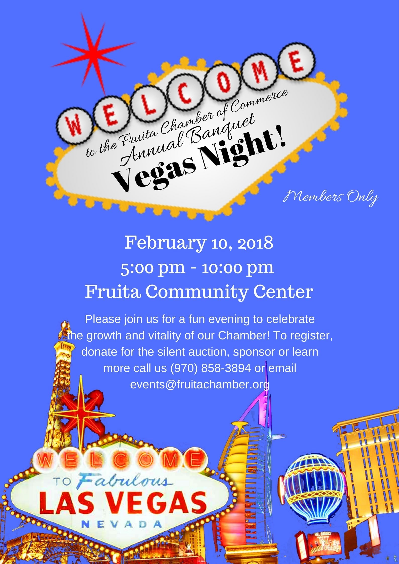 Register today for the 2018 Fruita Area Chamber of Commerce Annual Banquet.